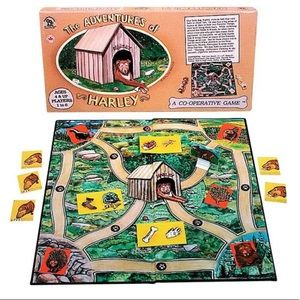 Vintage Family Pastime The Adventures of Harley Dog Children's Board Game 1992